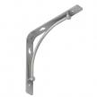 BOW 200 SR wspornik stalowy - 200 x 200 mm - srebrny matowy - VELANO DOMAX