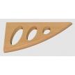 Eric 180 BK wspornik drewniany - 180 x 85 mm - buk - VELANO DOMAX