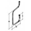 W2P hak garażowy - wspornik na dwie półki - 250 x 200 x 90 mm - ocynkowany galwanicznie - VELANO DOMAX