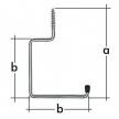 HW hak garażowy - hak wkręcany - 170 x 110 mm - ocynkowany galwanicznie - VELANO DOMAX