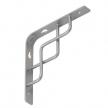 SQUARE 150 SR wspornik stalowy - 150 x 150 mm - srebrny matowy - VELANO DOMAX