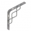 SQUARE 200 SR wspornik stalowy - 200 x 200 mm - srebrny matowy - VELANO DOMAX